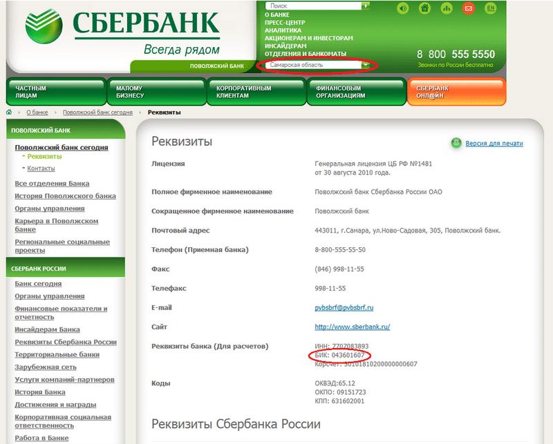 Юридический адрес Сбербанка