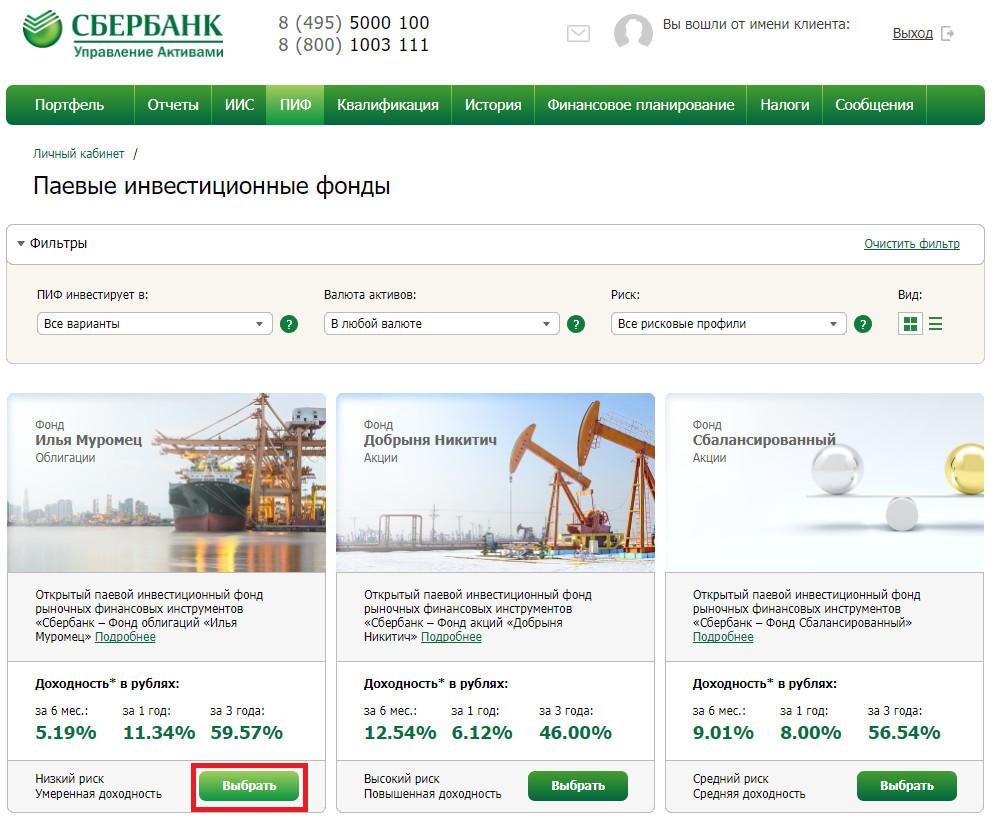 Управление активами в Сбербанке