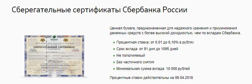 Фото №4. Основные условия приобретения сберегательного сертификата Сбербанка