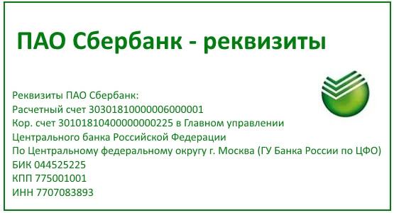 БИК Сбербанка