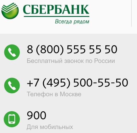 Телефоны Сбербанка для круглосуточной помощи